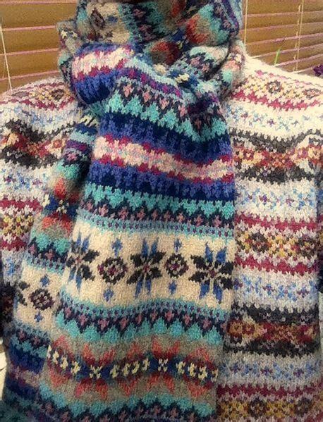 knitting pattern fair isle scarf grey fox snapshot fair isle jumper and scarf knitting