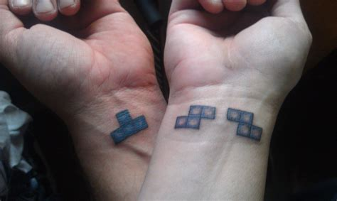 tetris tattoo these tattoos are the definition of wearing your on
