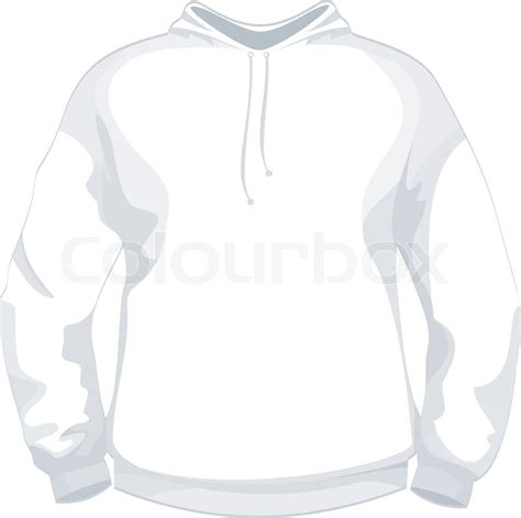 desain vektor jaket white jacket or sweater design template stock vector