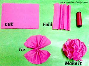 how to make decorations how to make colorful crepe paper flowers for decoration