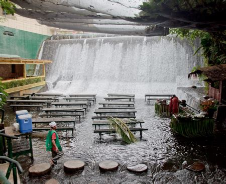 villa escudero waterfalls restaurant waterfall restaurant