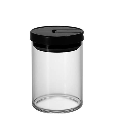 Hario Glass Coffee Canister 800ml Mcn 200b Black coffee accessory coffee canister hario co ltd