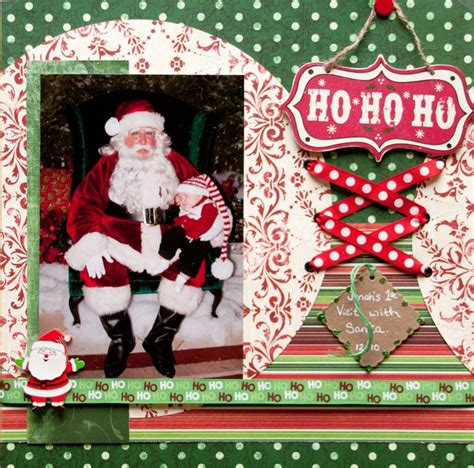 scrapbook layout christmas first visit with santa scrapbook com scrapbooking
