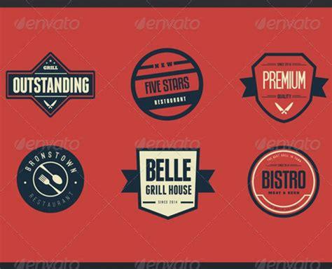 moderne retro bar restaurant logos