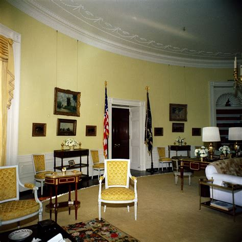 yellow oval room white house rooms yellow oval f kennedy presidential library museum