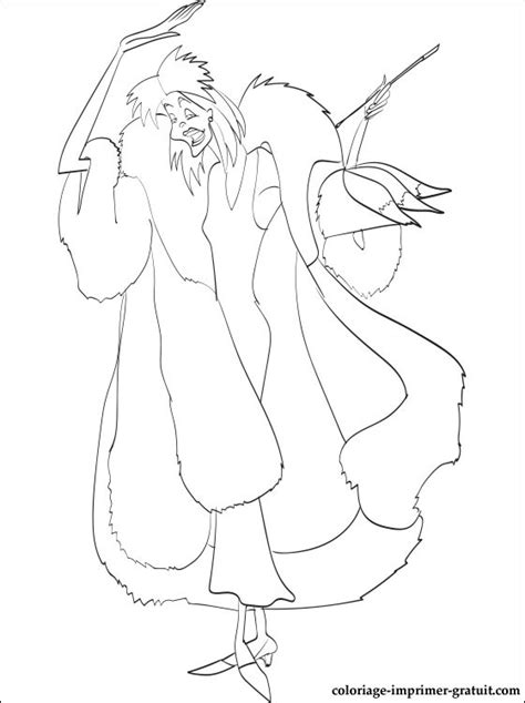 free coloring pages of cruella coloriage