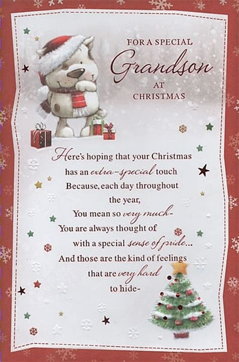male relation christmas cards   special grandson  christmas