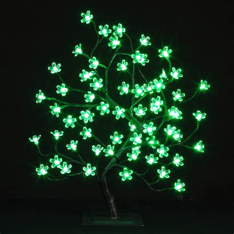 B M Light Up Bonsai Christmas Tree Green Led Trees Xmas Green Tree Lights