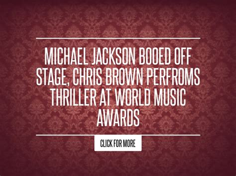 Lepaparazzi News Update Mtv Awards Bounce Back After by Michael Jackson Booed Stage Chris Brown Perfroms