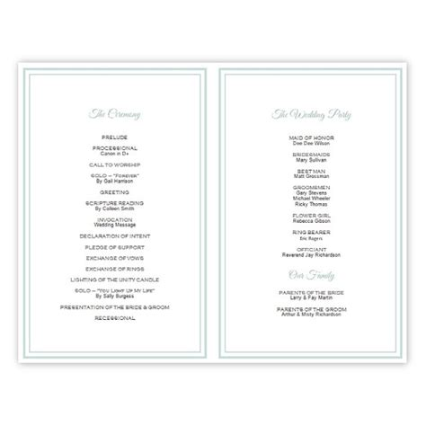 folded wedding program template half fold wedding program template diy by ajsprints
