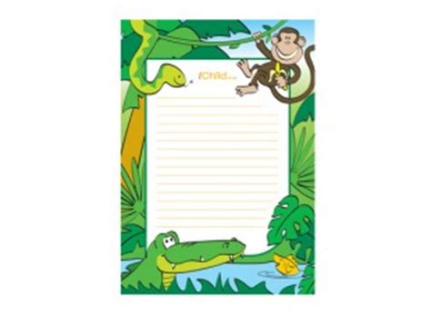 printable jungle paper jungle lined writing paper template ichild