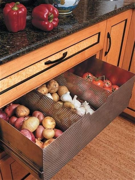 How To Store Potatoes And Onions In Pantry by Garlic And Potato Storage Built Into Your Cabinetry