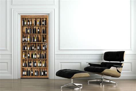 stickers pr駭om porte chambre sticker trompe l oeil cave 224 vin izoa
