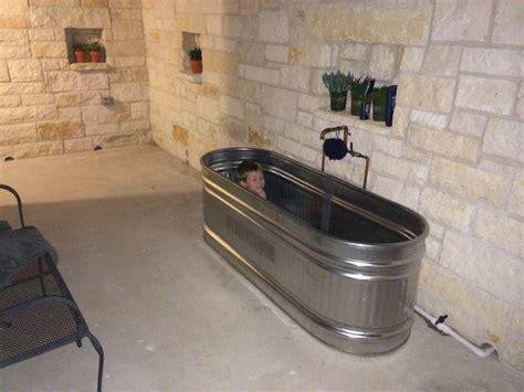 galvanized stock tank bathtub outside bathroom with stock tank bathtub