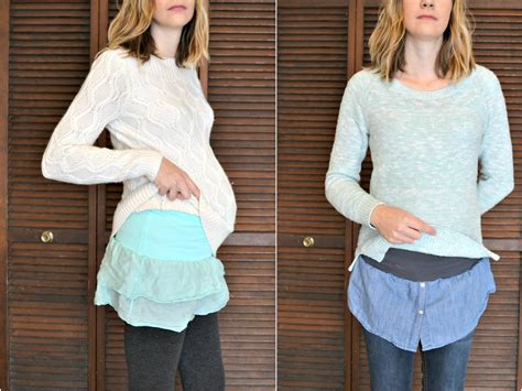 belly bands how to make maternity belly bands with shirt hems diymaternity