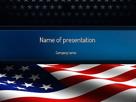 America Stand Strong Presentation Template For Powerpoint And Keynote Ppt Star American Powerpoint Templates