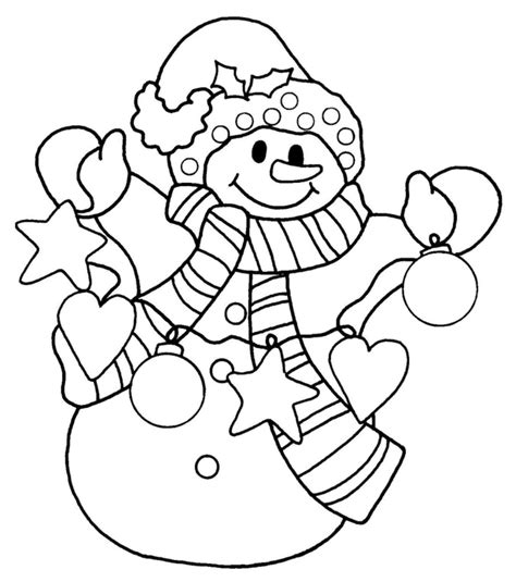 Snowman coloring page for kids coloring pages pinterest