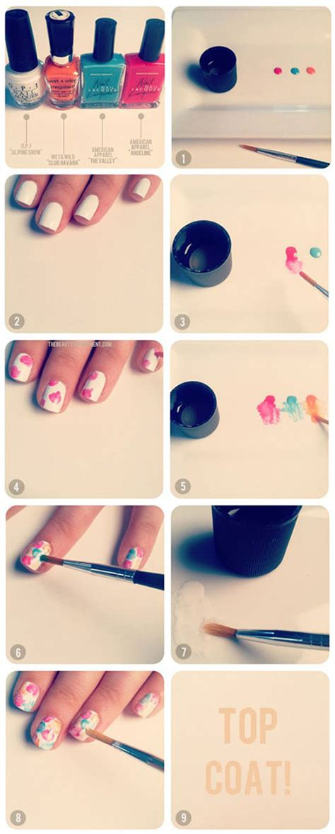 easy nail art picture tutorials simple nail art tutorials for beginners learners 2013