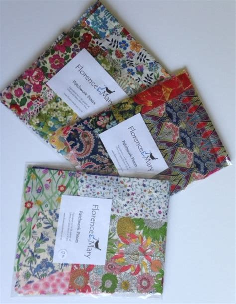 Patchwork Pieces - 4 x 4 liberty patchwork pieces florence and