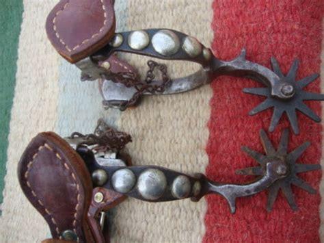Handmade Cowboy Spurs - vintage antique western handmade 5 spot marked cowboy