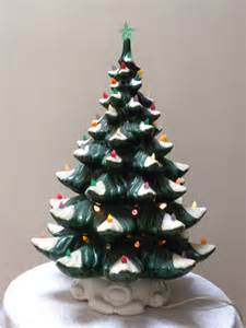 vintage ceramic christmas tree with musical by