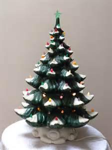 vintage ceramic christmas tree with musical by vintagebyclaudine