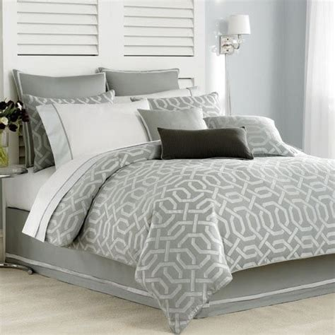 Gray Comforter Cover by Clearwater Silver Gray Geometric Deco Design Duvet