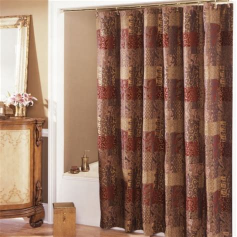 burgundy and gold shower curtain croscill shower curtains top 7 hometone