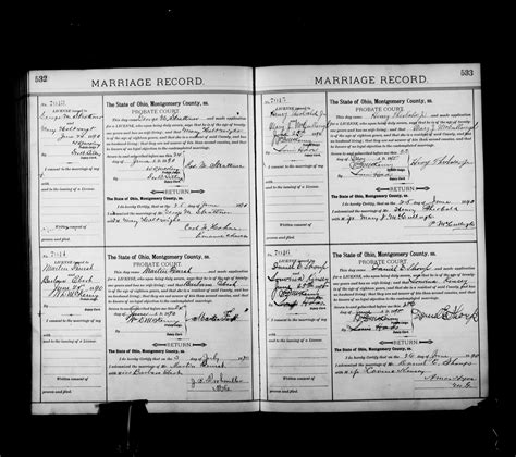 Montgomery Marriage Records File Ohio County Marriages 1789 2013 Montgomery Marriage Records 1889 1890 Vol U