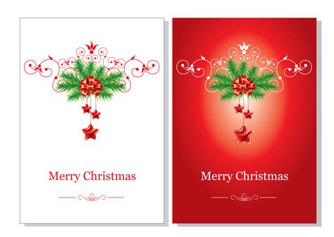 Free Gift Card - beautiful christmas cards vector free vector 4vector