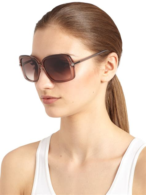 The Sunglasses Of 2007 Tom Ford by Tom Ford Oversized Square Sunglasses In Pink Lyst