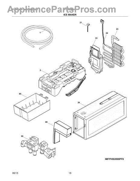 frigidaire maker diagram parts for frigidaire fghb2844lfg maker parts