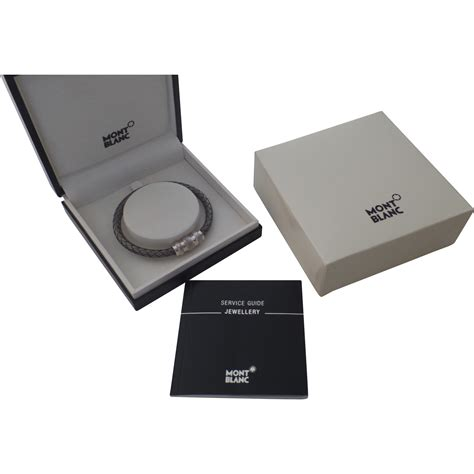 vintage sterling silver woven montblanc s bracelet new in box black tulip antiques ltd