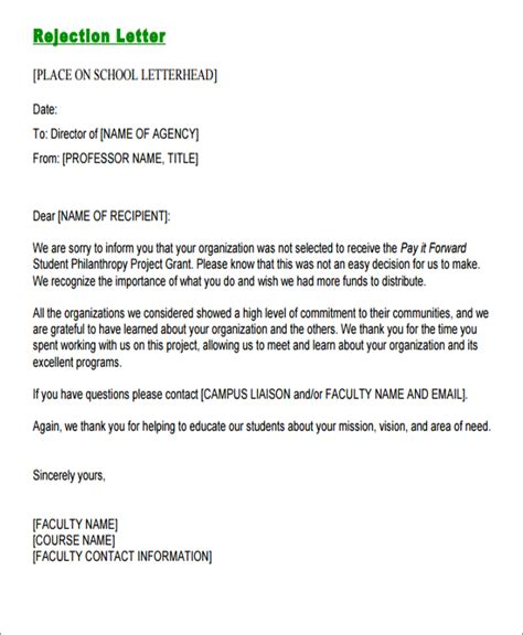 formal email format to professor 10 formal rejection letters free sle exle format
