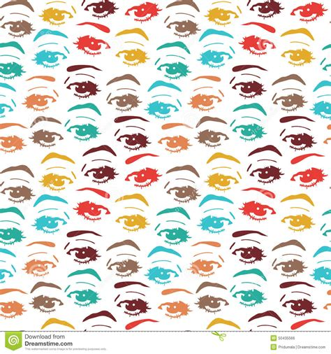 seamless eye pattern seamless background with eyes endless eye pattern stock