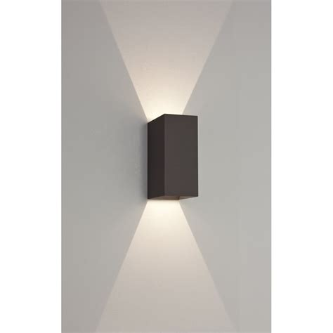 Led Eksternal astro 7061 oslo 160 2 light led outdoor wall light ip65 black 9th led outdoor