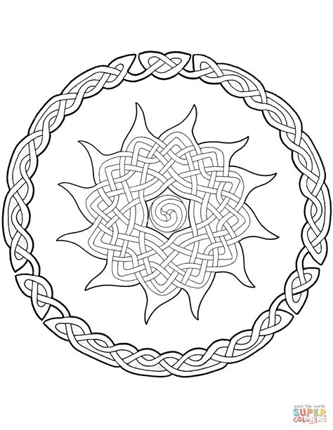 celtic coloring pages celtic mandala coloring page free printable coloring pages