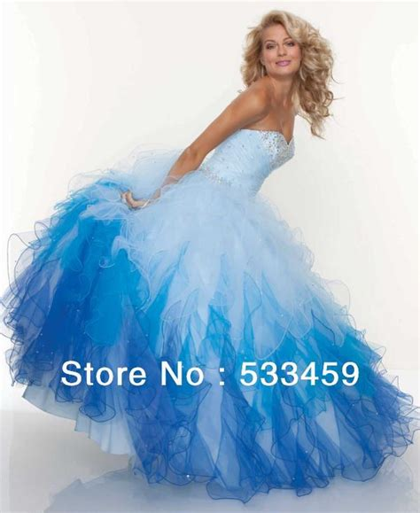 winter themed quinceanera dresses beautiful ombre crystal blue for winter wonderland theme