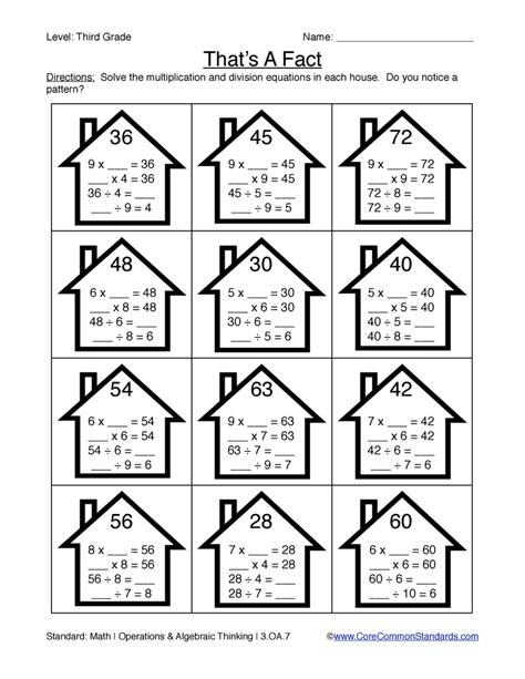 Common 3rd Grade Worksheets by Third Grade Common Worksheets Teaching