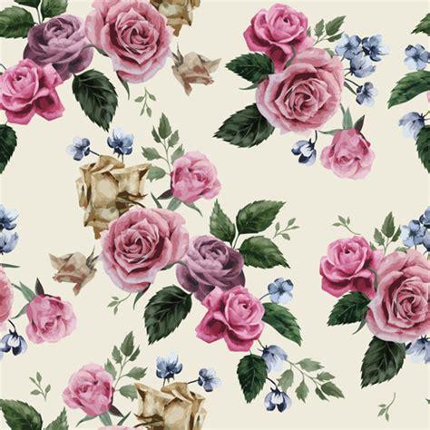 svg rose pattern retro beautiful roses vector seamless pattern 03 free download