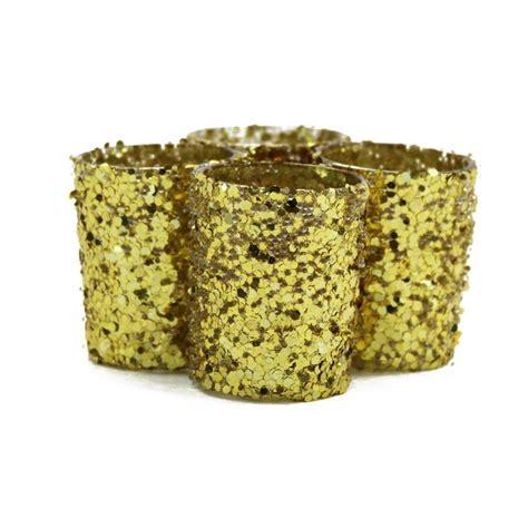 Gold Candlestick Holders Bulk Glitter Votive Candle Holders Gold 424183