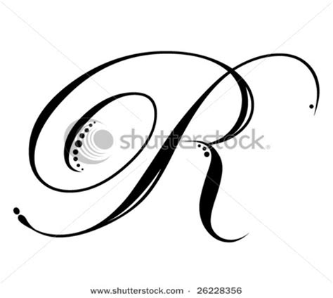 letter r tattoo 7 best images of fancy font letters script r cursive