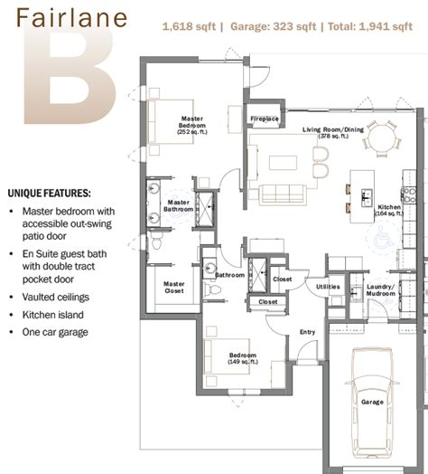 floor plans for patio homes retirement patio homes senior living fairlane