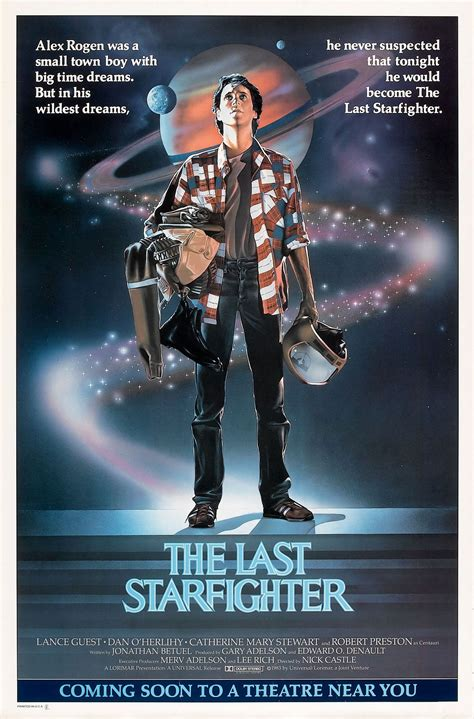 film action usa poster for the last starfighter 1984 usa wrong side