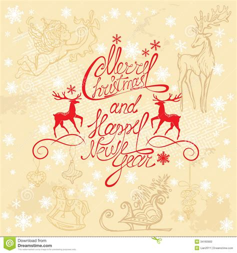 new year card writing card with written text merry christma stock