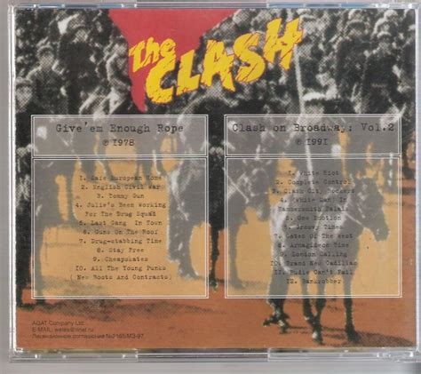 Clash Give Em Enough Rope Cd cd the clash give em enough rope on broad importado r 32 00 em mercado livre