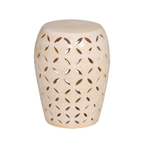 Ceramic Garden Stool by Small Lattice Glaze Ceramic Garden Stool