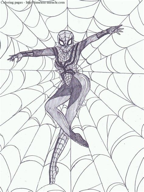 coloring pages spider girl spider girl coloring pages