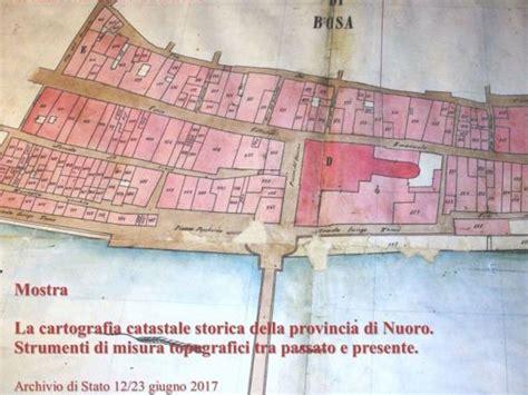 ufficio catasto nuoro la cartografia catastale storica della provincia di nuoro