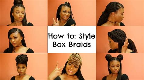 How To Style Your Box Braids Youtube | how to style box braids courtney lee youtube